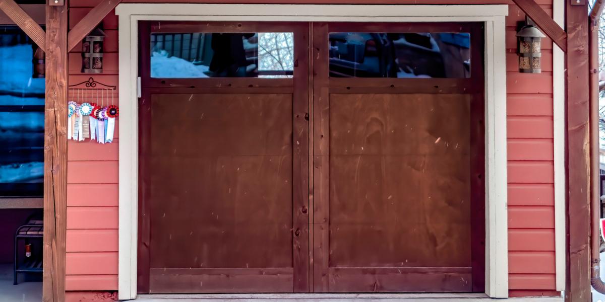 single panel garage